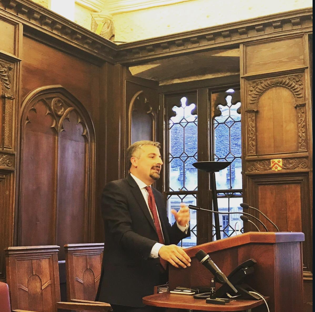 Speaking at All Souls College, Oxford