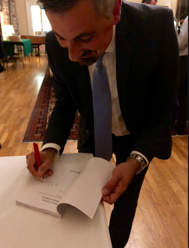 Signing my latest book, always humbling