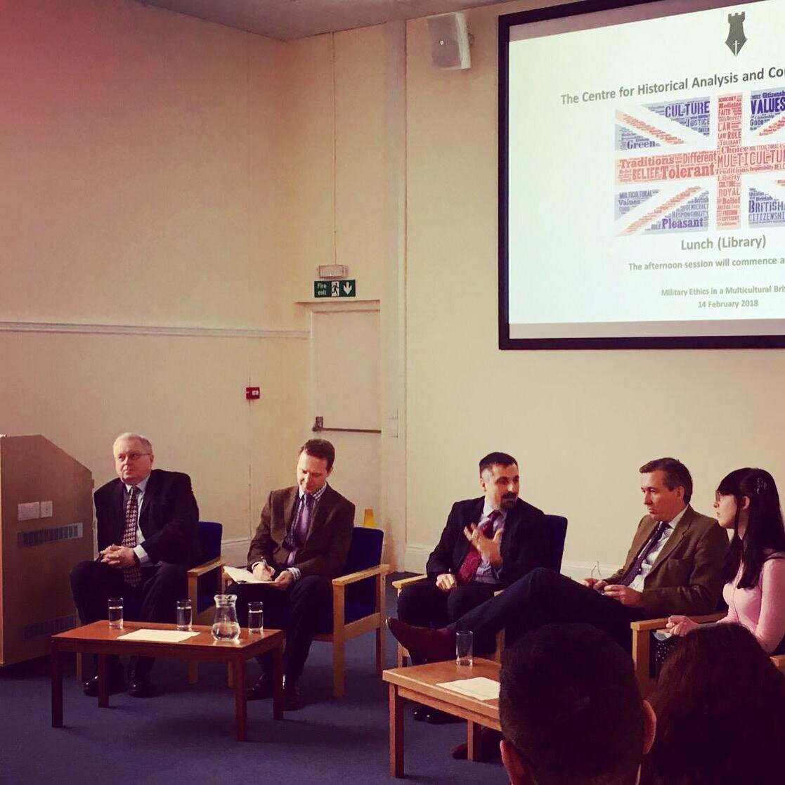 Chairing a day of discussions on military ethics in multicultural Britain