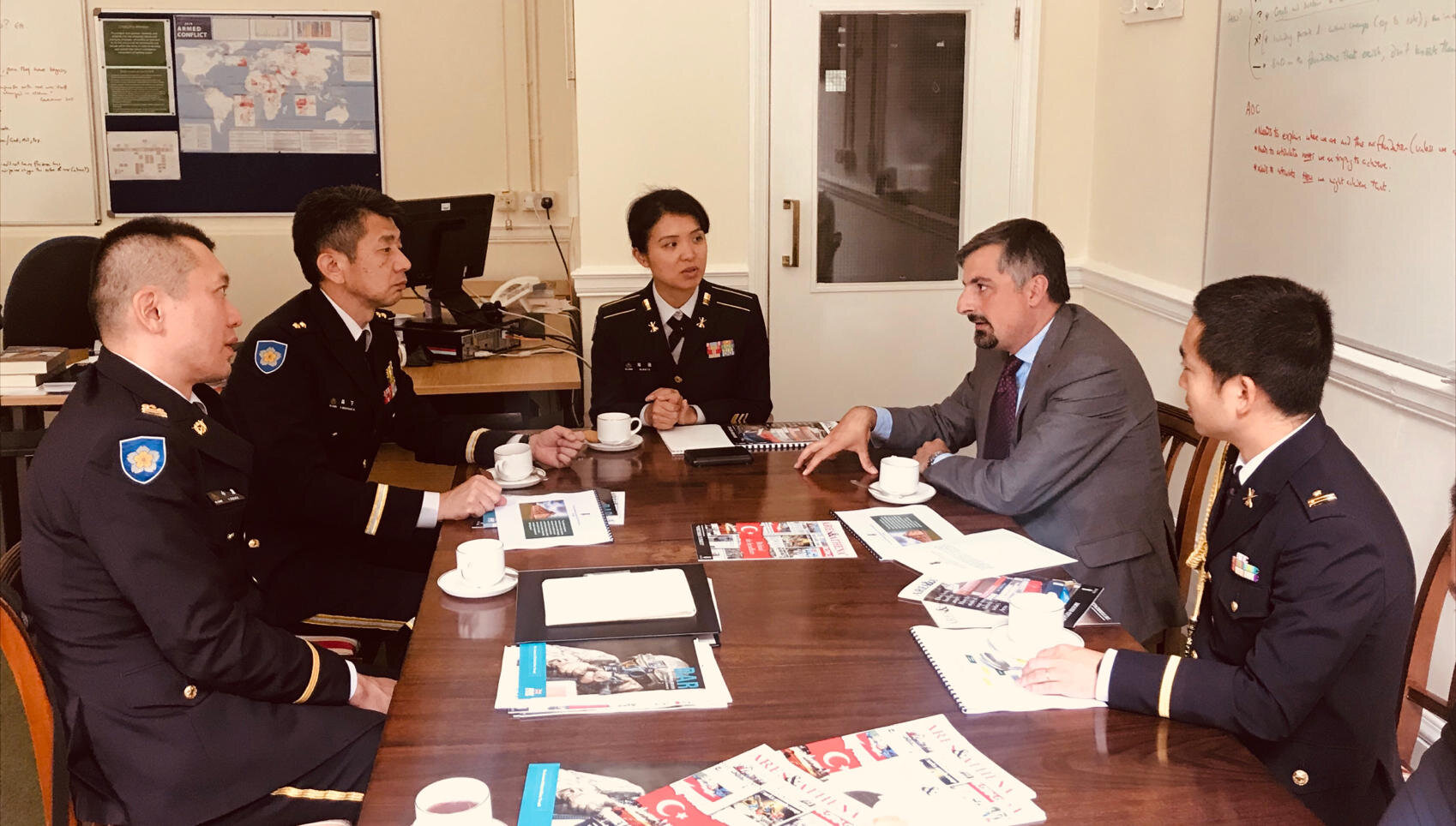 Hosting visiting Japanese delegation