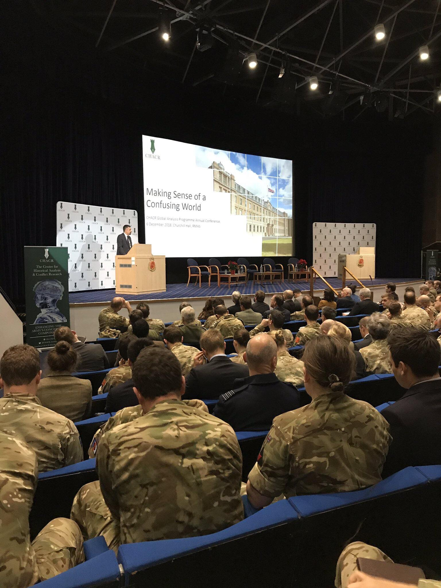 Kicking off annual conference I organise at Sandhurst on global trends