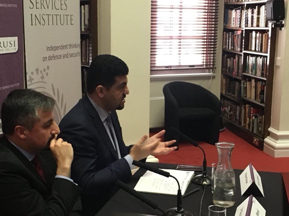 Discussing Syria and ISIS at Royal United Services Institute