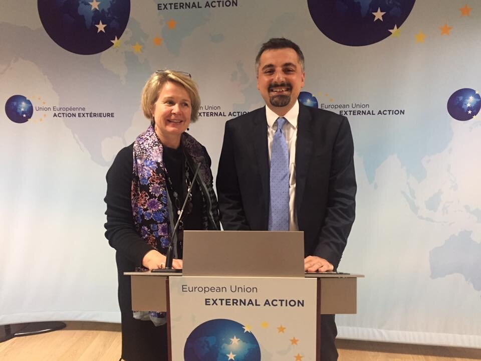 Speaking at the EU Commission
