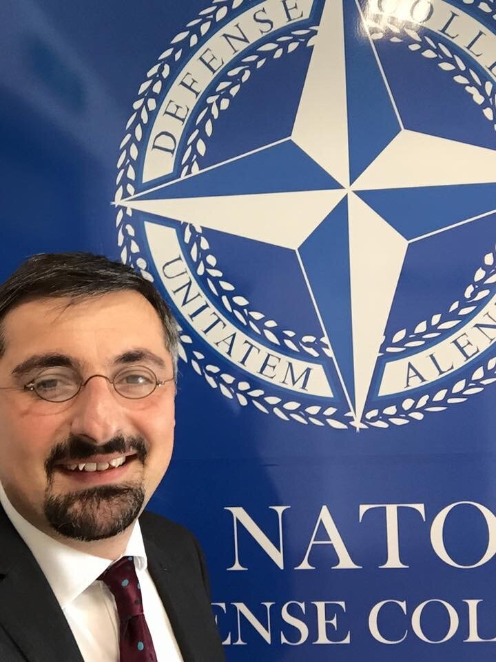Giving talk at the NATO Defence College, Rome