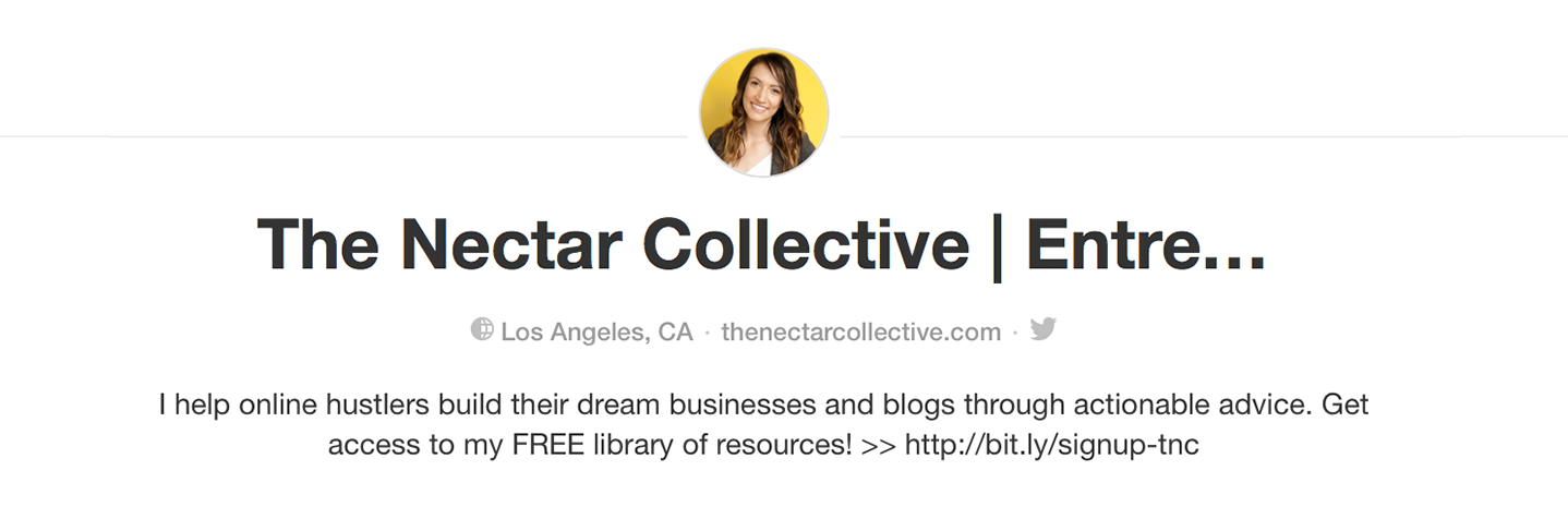 Example of great Pinterest Profile | The Nectar Collective