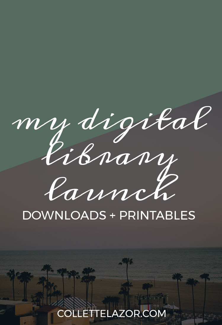 Digital Library Launch with Free Printables and Downloads by @collettelazor
