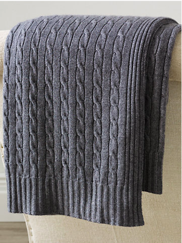 To cuddle with...a Ralph Lauren cabled cashmere throw.