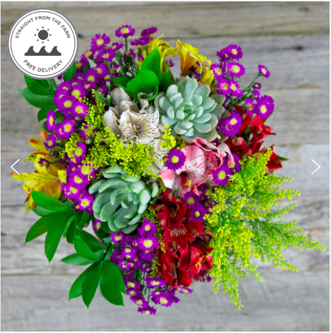 To keep it fresh...a monthly floral delivery subscription.