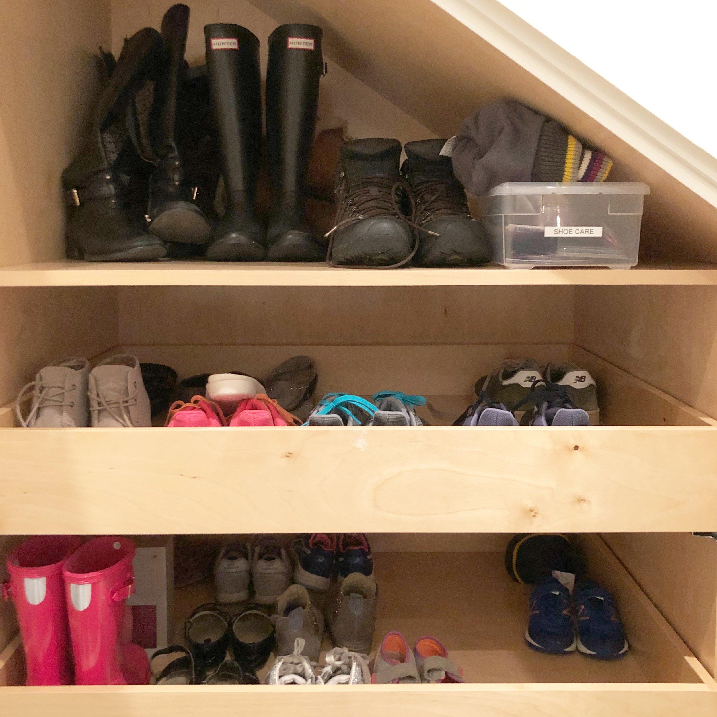 Henry & Higby Organizing Coat Closet Shoes.JPG