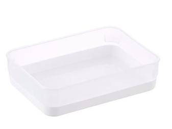 Clear & White Drawer Organizer Trays