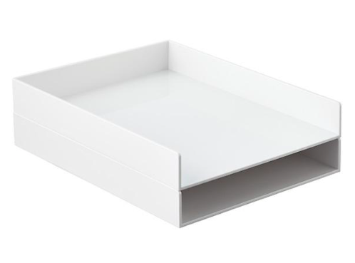 White Poppin Stackable Letter Tray