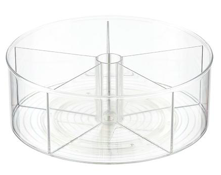 InterDesign Clear Linus Divided Lazy Susan