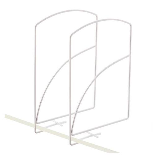 Lynk Tall White Solid Shelf Dividers Pkg/2