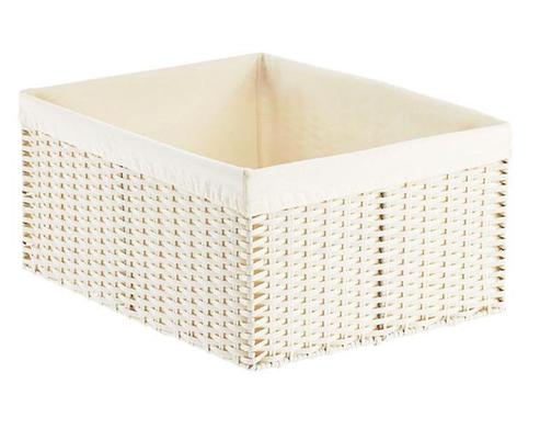 White Montauk Woven Rectangular Storage Bins