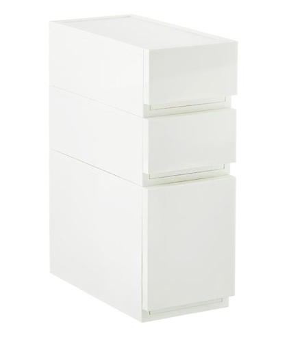 White Opaque Modular Stackable Drawers