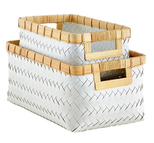 Hampton Woven Storage Bins with Handles