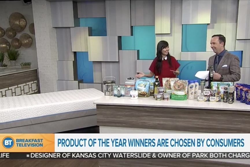 Breakfast Television:    2018 Product of the Year Winners   Air date:  March 28, 2018