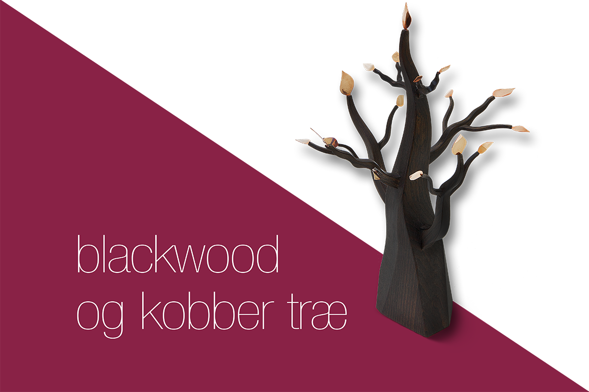 tree in blackwood and copper
