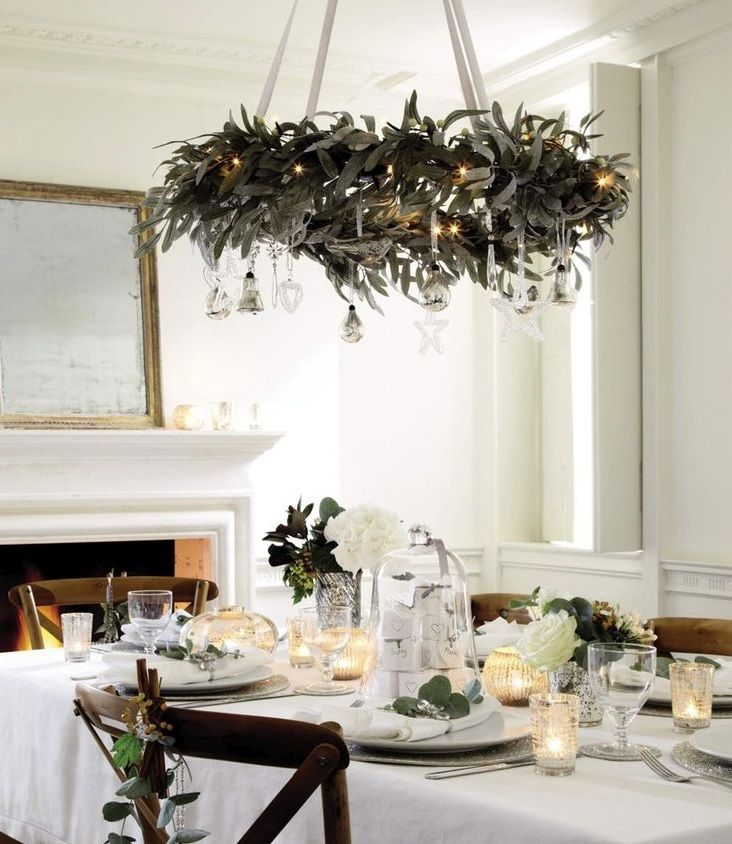 As a renter, I'm always looking for innovative, fun and thrifty ways to update the home. I love the use of the branch above the table in this rustic dining setting. Adorned with fairy lights and decorations, it's a simple and achievable idea to create a beautiful design statement in any room. The neutral color palette gives it a contemporary Scandinavian feel – just showing that you don't have to stick to reds and greens for a Christmas scheme and that winter whites work just as well!