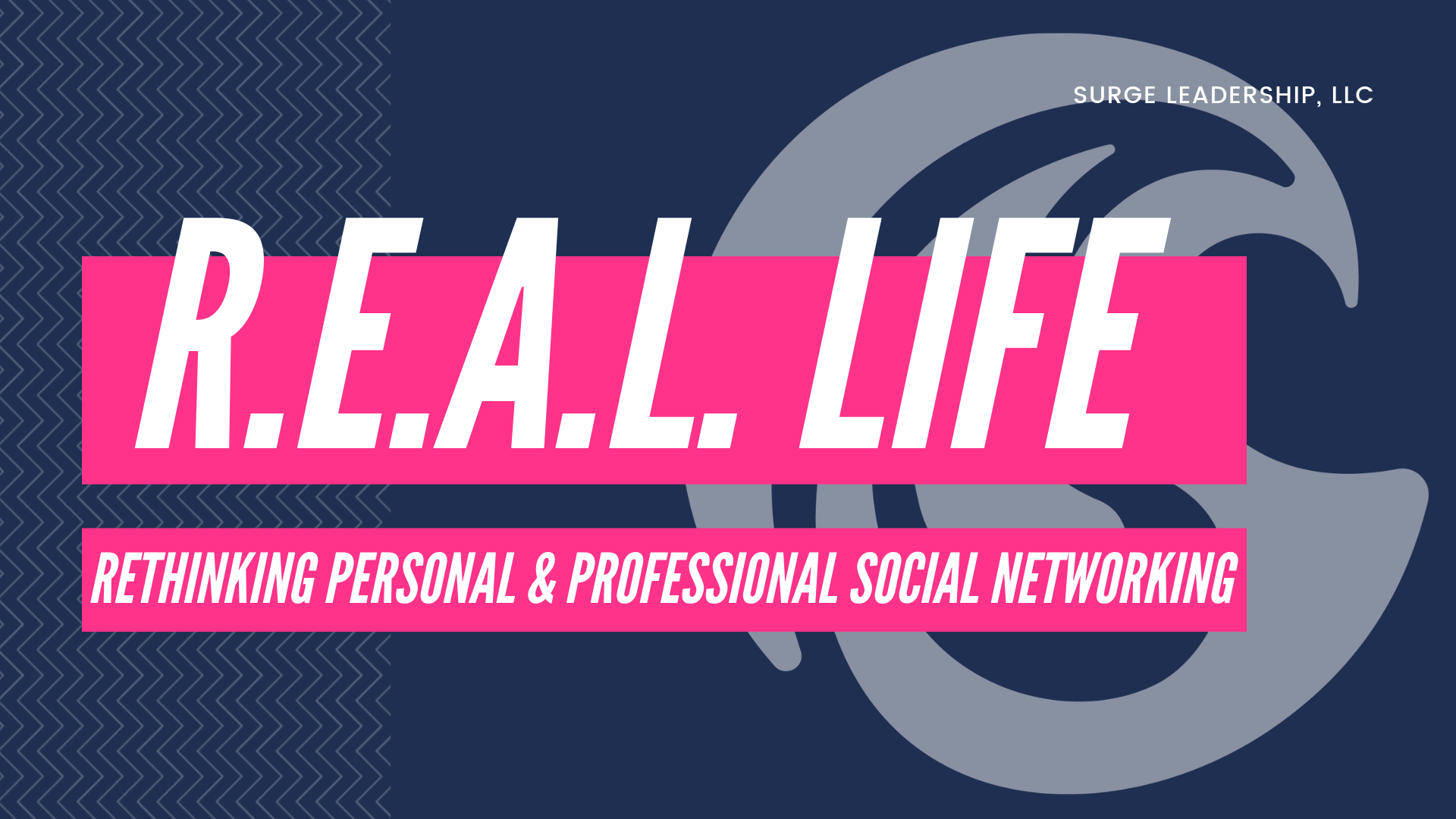 REAL Life - - Reevaluate Your Personal & Professional Life- Encourage Others in All Walks of Life- Avoid the Toxic at All Cost- Limit the Distractions in Your Life**Geared towards Business Professionals