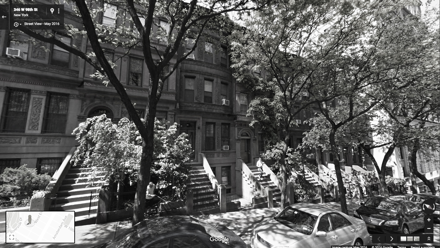Google Street View of the Upper West Side