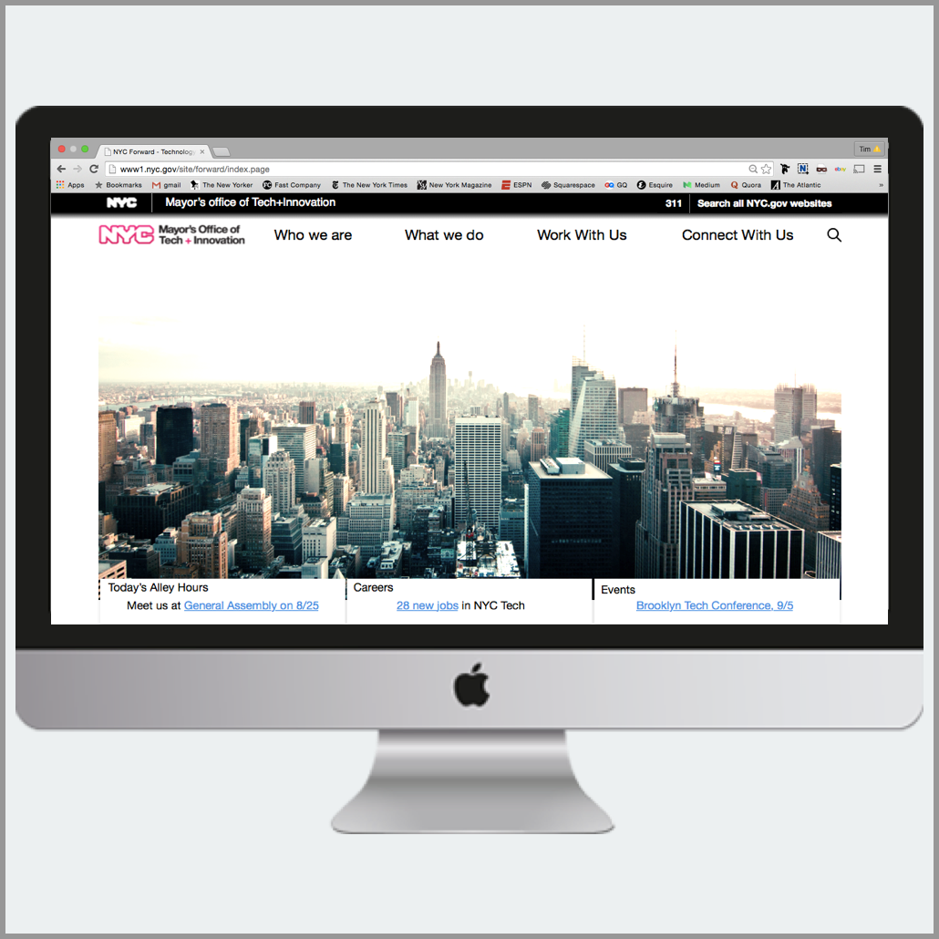 Website redesign for a NYC government agency