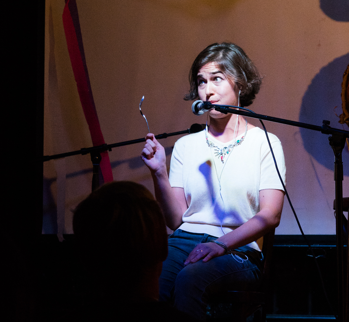 Xandra Clark performs an excerpt of  Polylogues  at Bizarre Bushwick for Undiscovered Countries in September 2017.