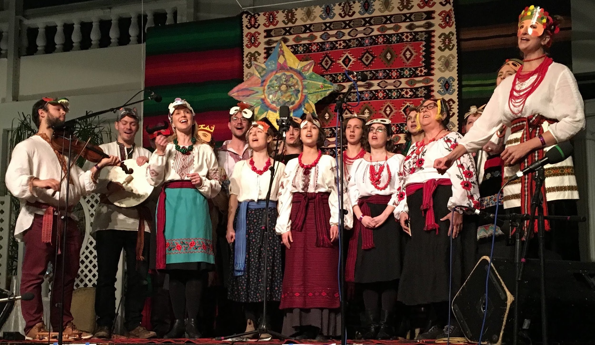 Xandra performs with Ukrainian Village Voices at the 2018 Zlatne Uste (Golden) Festival at Prospect Hall in Brooklyn.