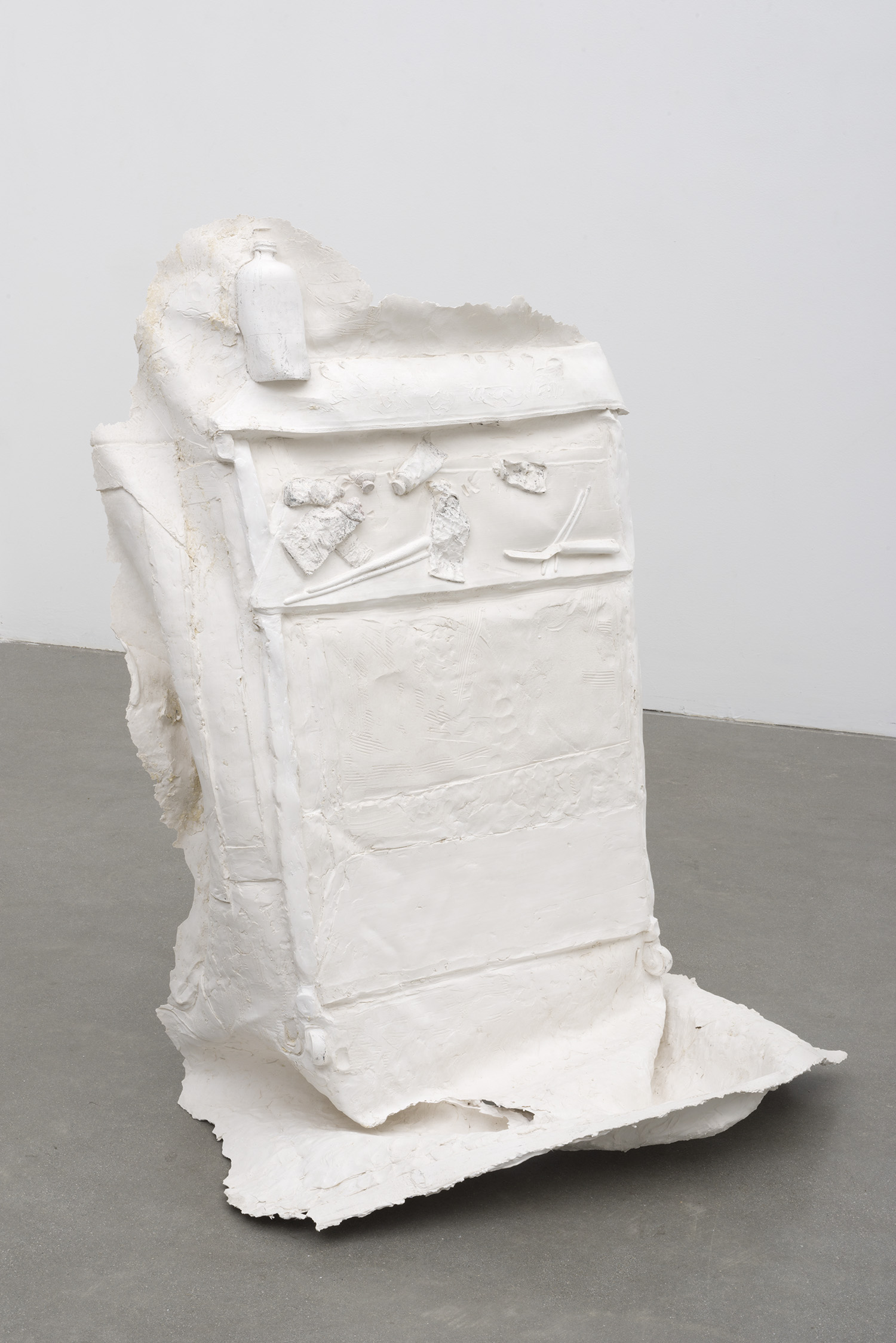 Palette , 2014 Gypsum cement, fiberglass cloth 48 x 36 x 24 inches