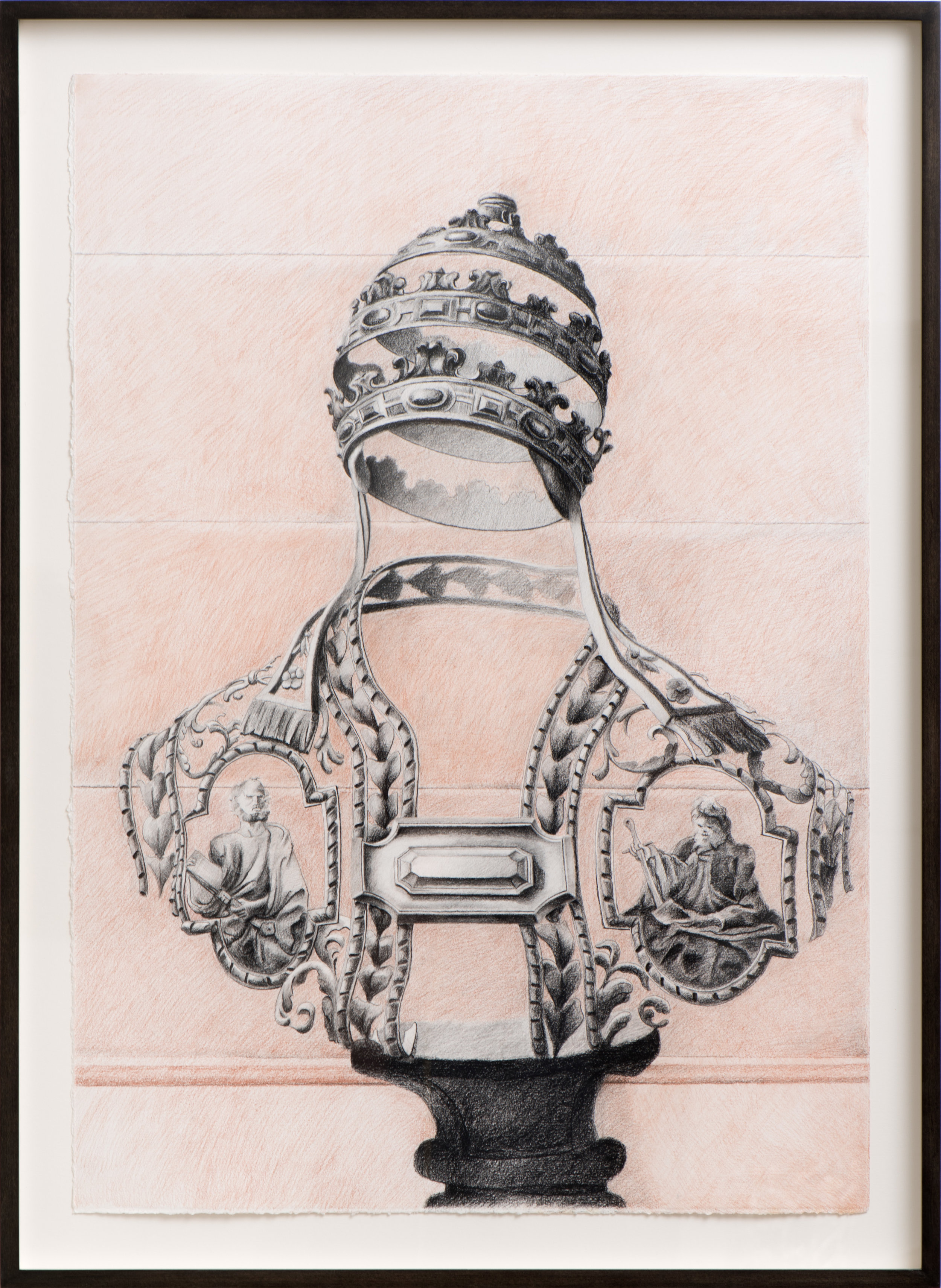 Vestments , 2011 Charcoal and conté on paper 30 x 21 inches