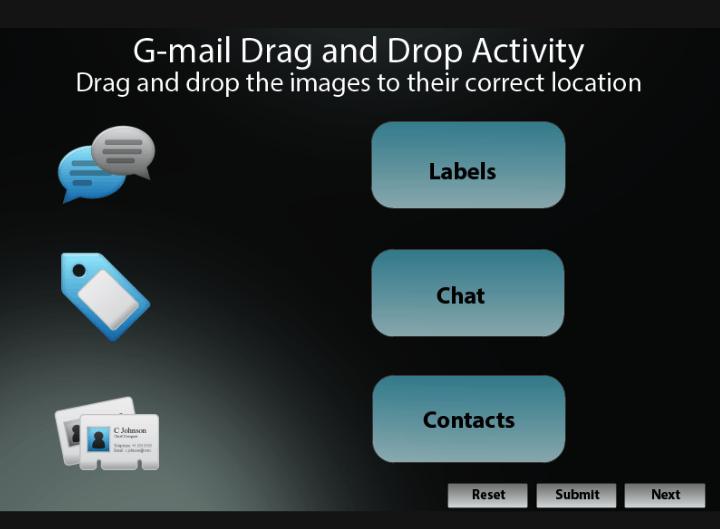 Gmail Drag & Drop Slide