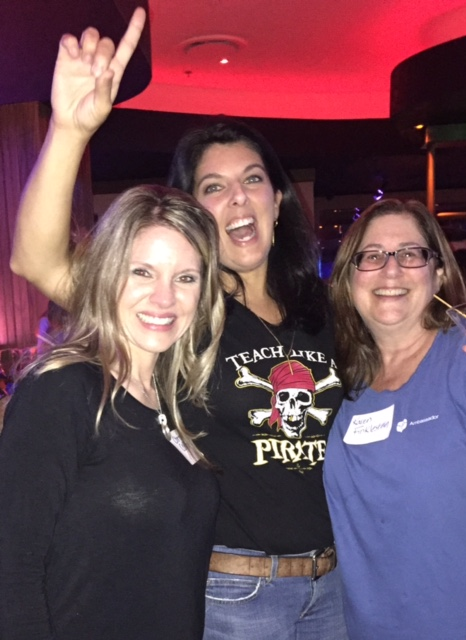 Finally meeting fellow Edmodo Ambassadors, Pam Hubler & Karen Finklestein, for the first time face-to-face at the Edmodo FETC party hosted at the Blue Martini Lounge.