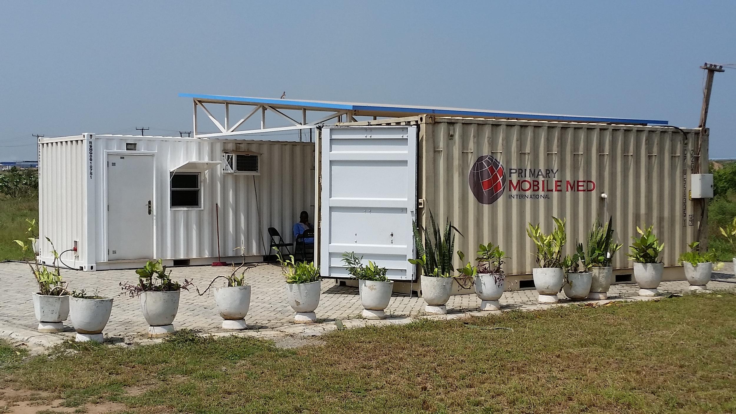 Three unit hub utilizing MMC-US-001, LAB-GH-001, and 2EX-GH-001 in Tema, Ghana
