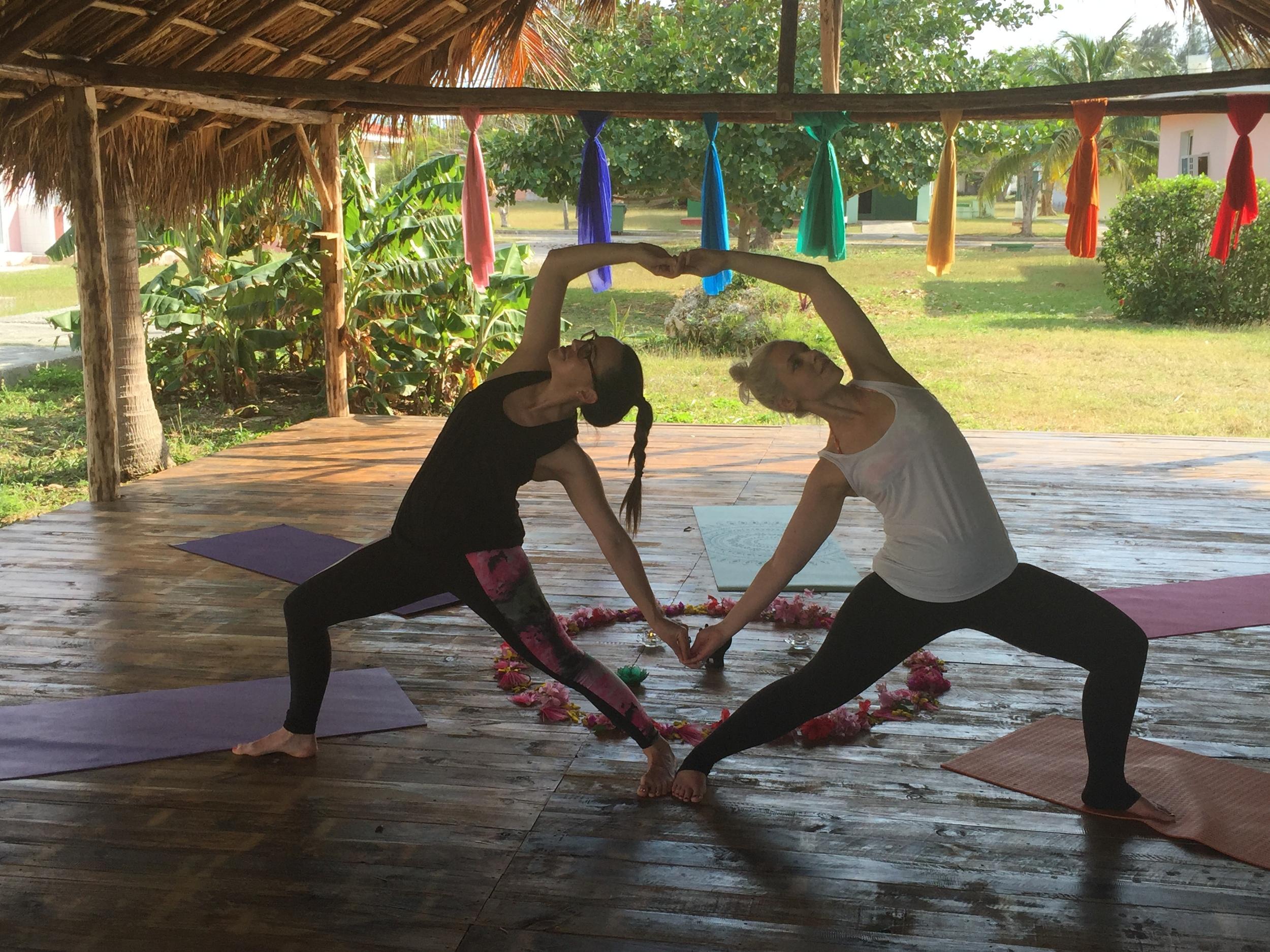 Sara + April post-yoga flow!