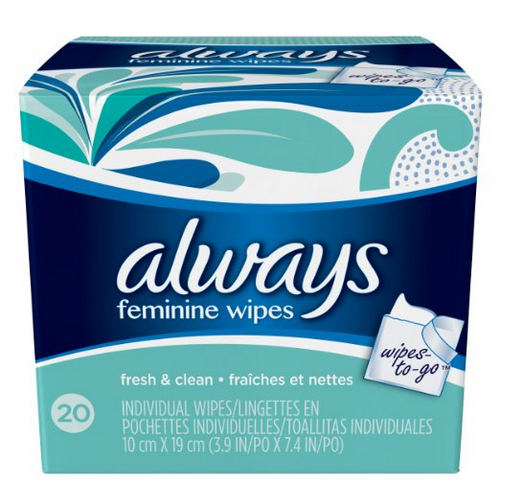 Always Feminine Wipes