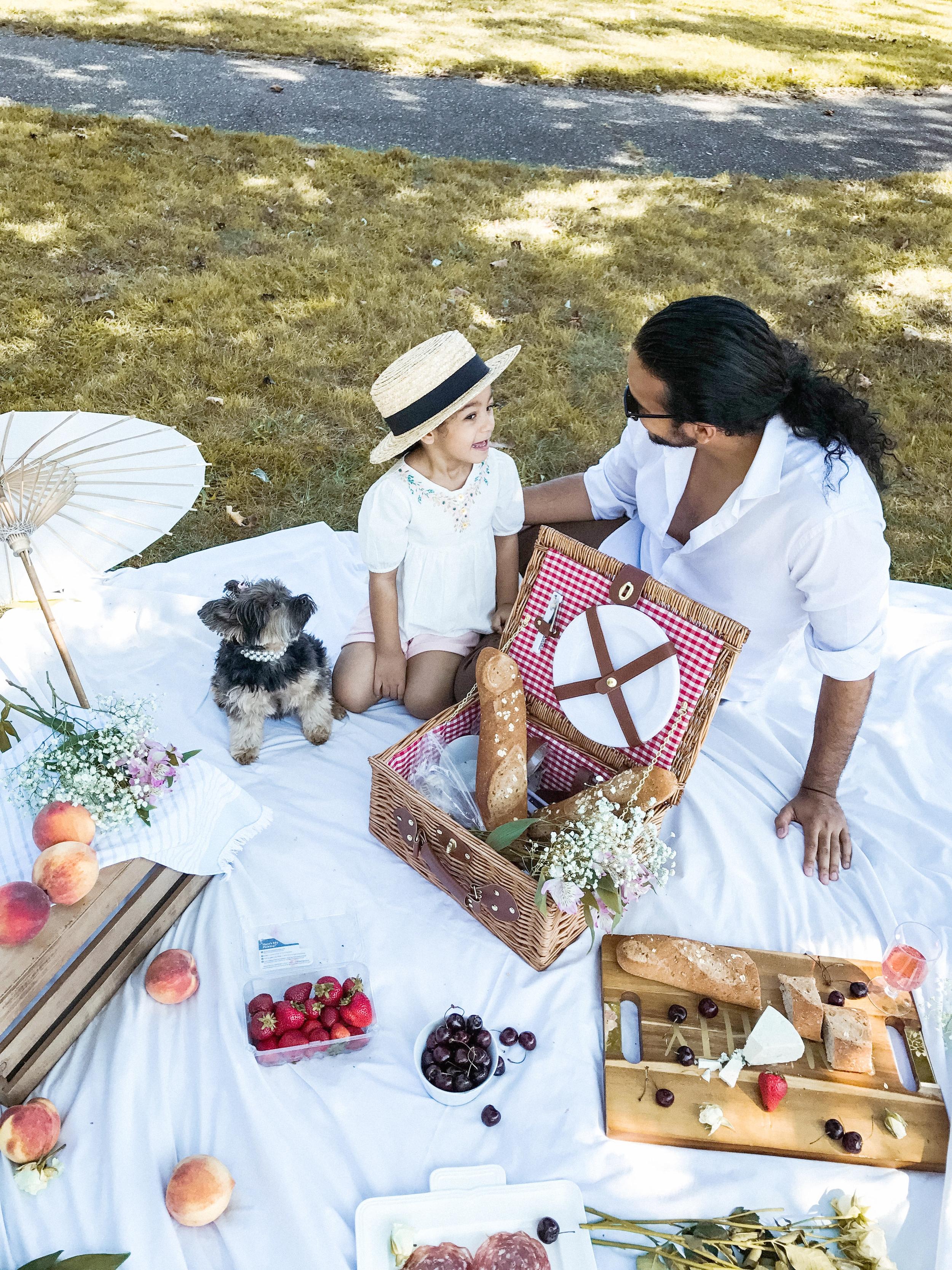 all white picnic