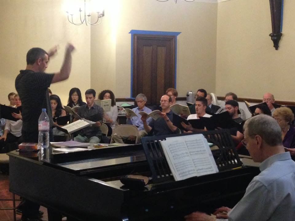 A 2013 Summer Festival rehearsal held at the Church of the Incarnation. Photo credit: Pat Rasile.