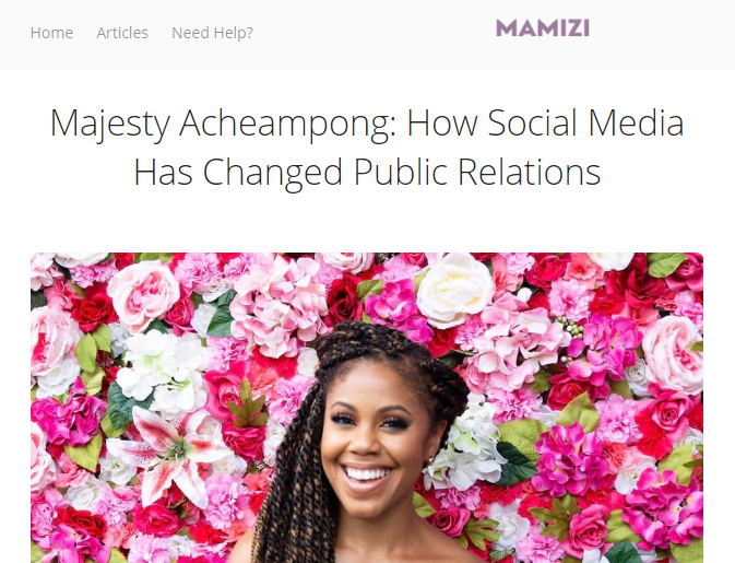Mamizi Interview on How Social Media has changed PR