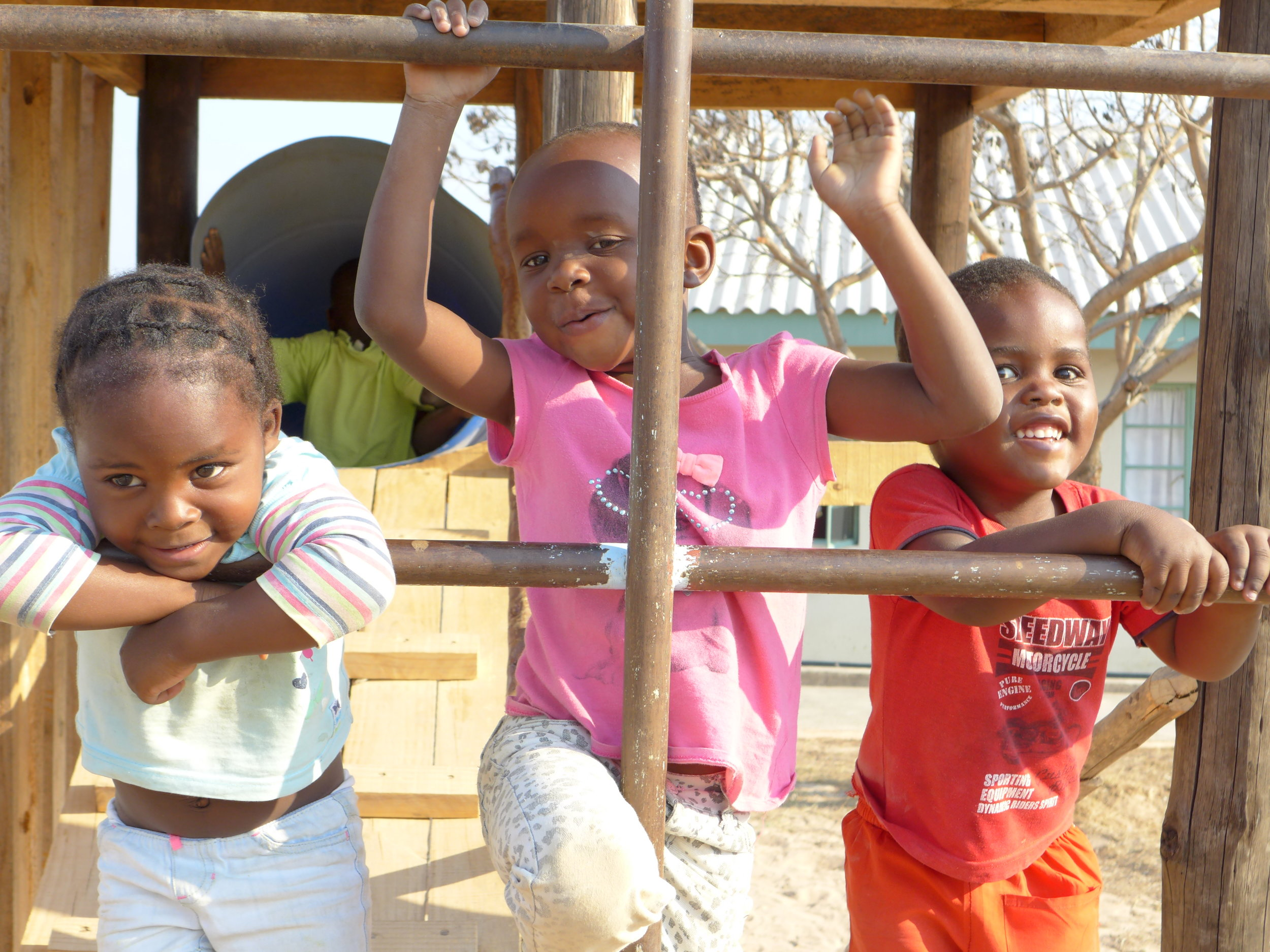 The children at Kuda Vana enjoy playing on our playground - an activity every child deserves
