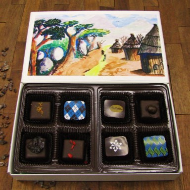 Each box features artwork from Kuda Vana's children