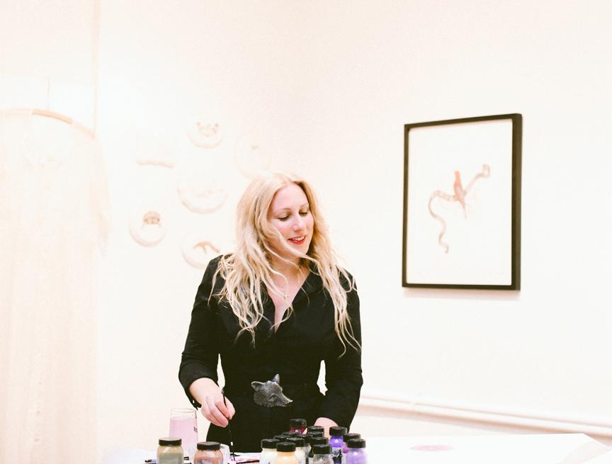 Susan in her studio. Photo by Rabiah Khwaja Gohar