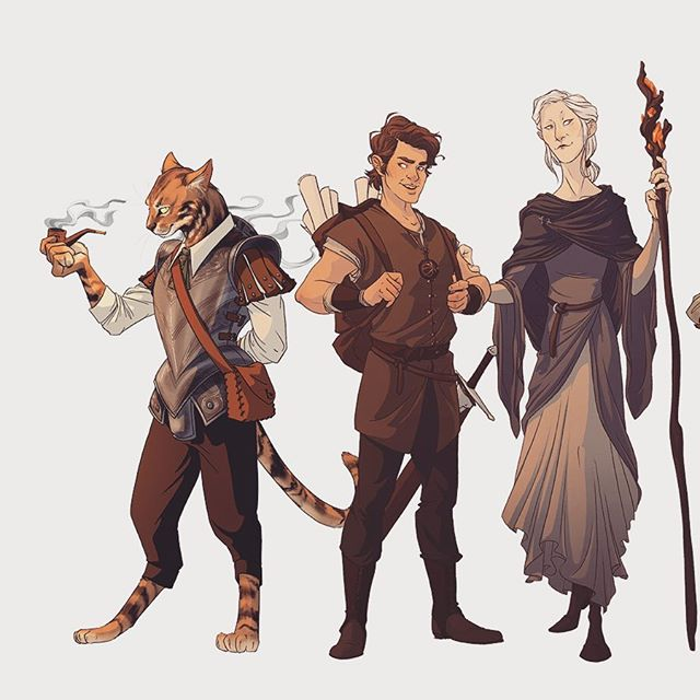 The Campaigners! Line up of various #dungeonsanddragons commissions I've taken over the last 8months or so. This is only a handful of the drawings I've done, it's a blast interpreting all the stories and ideas people come up with for their characters!  #illustration #commission #characterdesign #dndcharacterart #tabaxi #dragonborn #dailydrawing #draw #digitalart