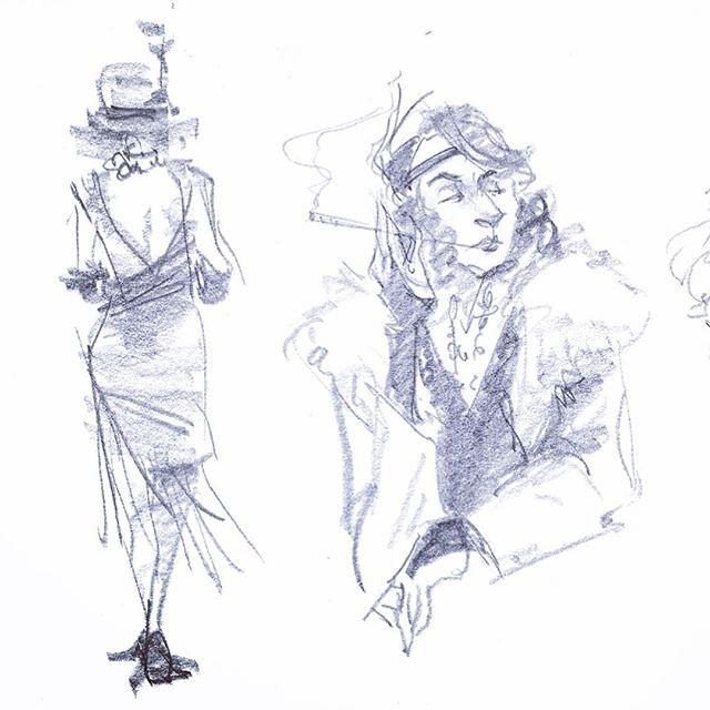 @a.tercero.art was our lovely 1920s flapper last night! Fantastic as always 🌹  #lifedrawing @easlfullerton #flapper #dancer #1920sfashion #dailyart #sketchbook #illustration #gesturedrawing #mileage