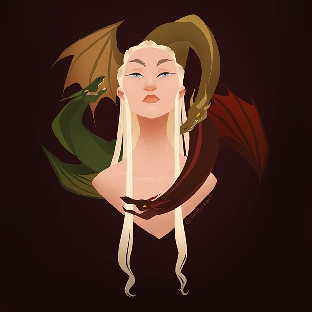 Welcome back Game of Thrones! Who us ready for some dragon devastation? 🐉  #gameofthrones #got #targaryen #daenerys #daenerystargaryen #motherofdragons  @gameofthrones #illustration #digitalart #portrait #asongoficeandfire
