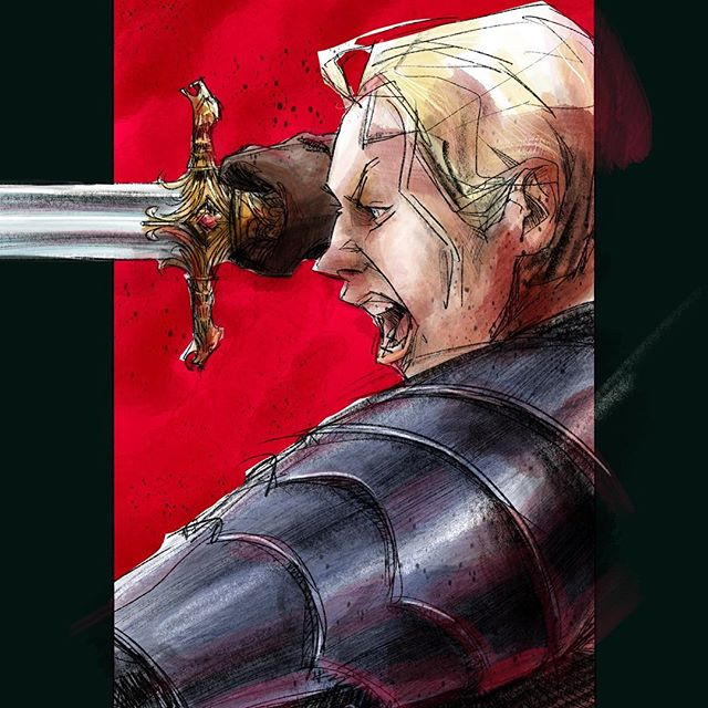 Oathkeeper ⚔️ Had to draw my lady: Ser Brienne. So excited for the new ep tonight! #gameofthrones #serbrienneoftarth #brienneoftarth @gwendolineuniverse #knightofthesevenkingdoms @gameofthrones #illustration #digitalart #oathkeeper