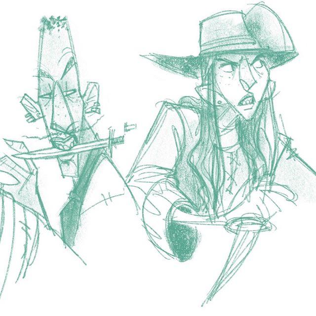 Pirates on patrol... cool down last night before bed. . #drawing #draw #illustration #digitalart #dailydoodle #dailysketch #sketchbook #procreate #cooldown #pirates #annebonny #piratesofthecaribbean #buccaneers #blacksails #blackbeard #pirate