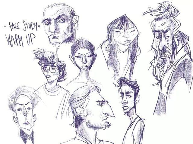 Face studies... ✏️ #practicepracticepractice #digitalart #sketchbook #dailydoodle #procreate #facestudies #interestingfaces #illustration #characterdesign