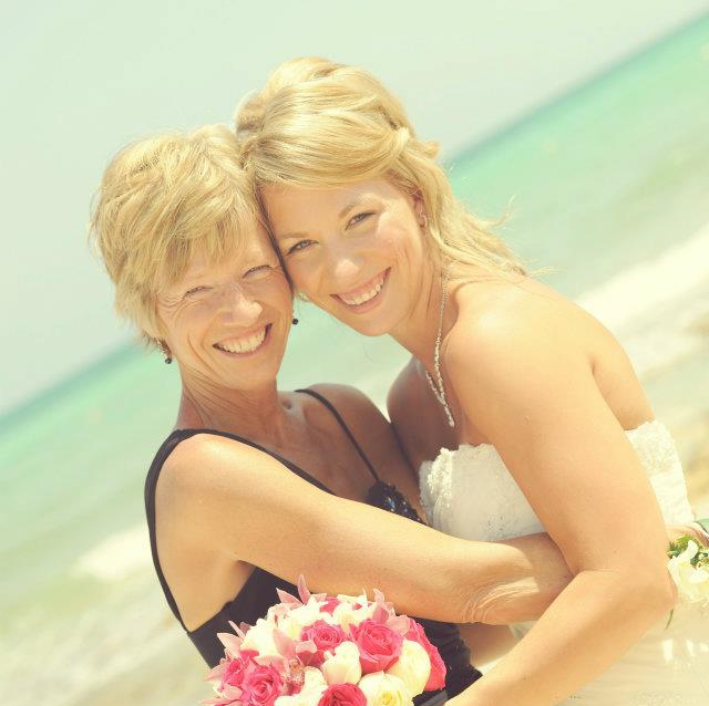 Wendy and her mom on her wedding day.