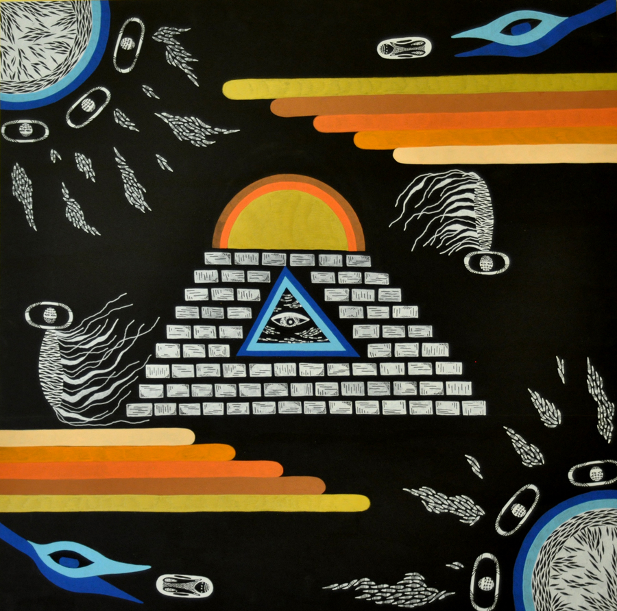 Obelisk Observations  Acrylic / Wood  24 INCH x 24 INCH