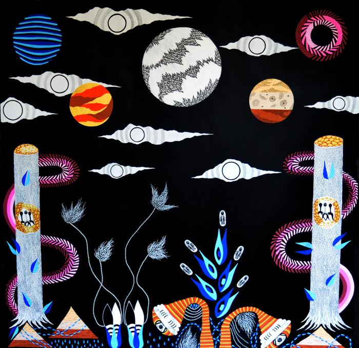 Illumination of Celestial Creations  Acrylic / Wood  4 FT x 4 FT